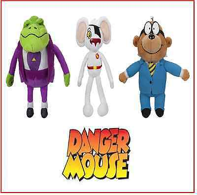 3 Danger Mouse Small Plush with sound - Penfold Baron Greenback Danger Mouse