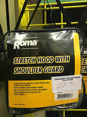 Roma stretch hood with shoulder guard size small