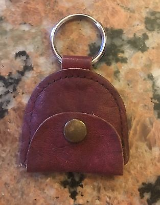 1950S Leather Key Chain With Change Purse 3.5""
