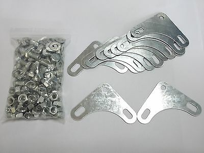 Slotted Angle (M8 x16) Nuts, Bolts, Washers x60 & 12 Corner Plates