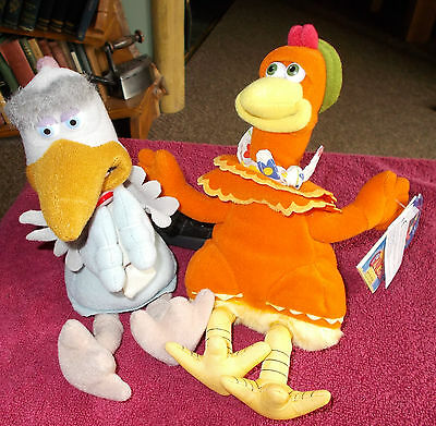 "New With Tags Chicken Run Ginger & Used Fowler Plush Soft Toy 9"" Free Uk P&p"