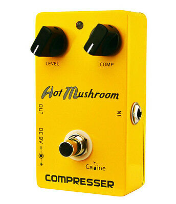 Caline CP-10 Hot Mushroom COMPRESSOR Guitar Effect Pedal (UK Stock)