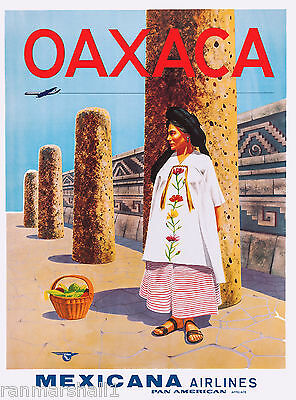 Mexico Oaxaca Mexican Spanish Vintage Travel Advertisement Art Poster 9