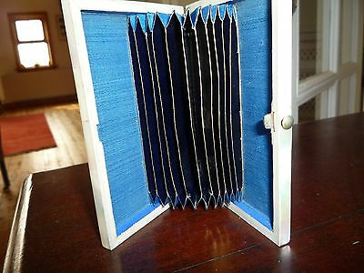 Antique Mother Of Pearl/abalone Shell Card Case  Accordion Style Pocket See Note