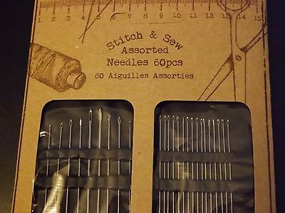 Stitch and Sew Hand Sewing Needles Assorted 60 Pieces