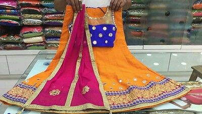 Designer Indian Kids Lehenga Bollywood Party Choli Girls Pakistani Ethnic SH44
