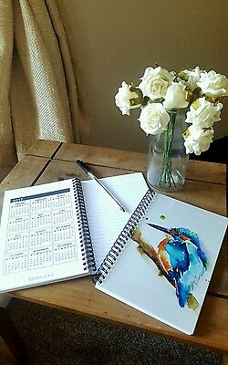 New & Exclusive Notebook With Calendar Of Original Elle Smith Animal Artwork! A5