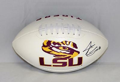 Jarvis Landry Autographed LSU Tigers Logo Football- JSA Witnessed Authenticated