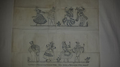 Vintage Embroidery Transfer Pattern Needlewoman and Needlecraft  No 35
