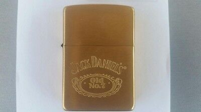 ZIPPO LIGHTER Jack Daniels SOLID BRASS New in Box