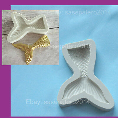 Mermaid Tail silicone mold for chocolate, fondant, clays.