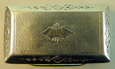 A Fine 19Th Century Antique Continental Silver Snuff Box Marked On Inner Rim