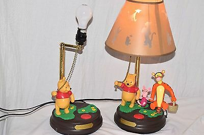 TWO Disney Winnie the Pooh & Friends table Lamp FOR PARTS