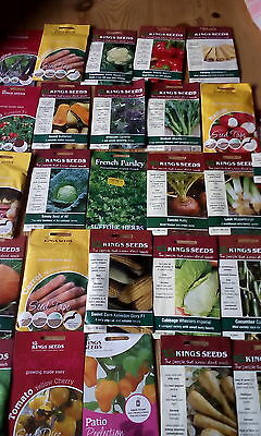 10 packets different vegetable seeds.free p&p