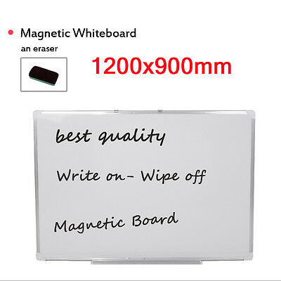 Whiteboard Plastic Aluminium Finish Frame 1200 x 900 mm With Magnetic Dry Wipe