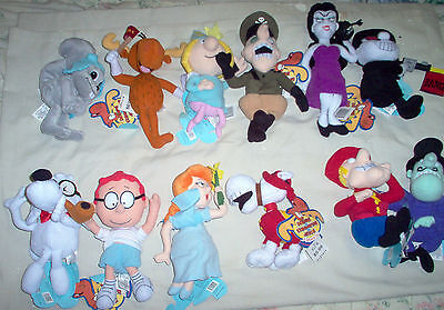 FULL COMPLETE SET of 12 ROCKEY & BULLWINKLE & FRIENDS w/ ORIG. TAGS EX COND.