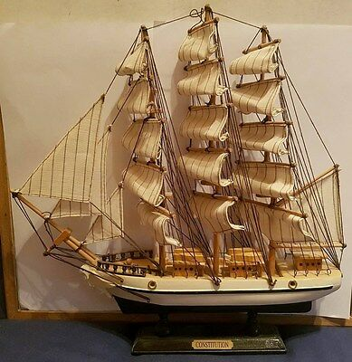 CONSTITUTION - Large Wooden Sail Ship - Model - Well Kept & Fantastic Condition
