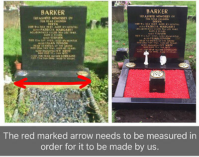 Personalised Memorial Headstone Plinth Grave Tribute Cemetery Remembrance vase