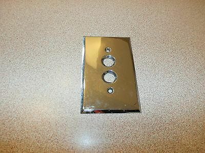 Vintage Chrome Wall Plate Cover Push Button Light Switch