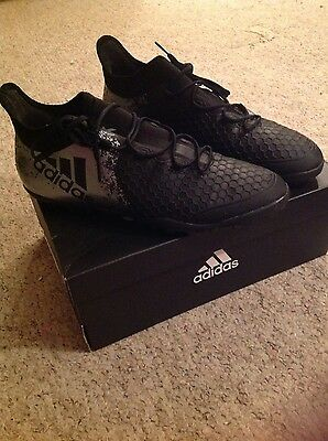 mens black and silver adidas football boots size 10