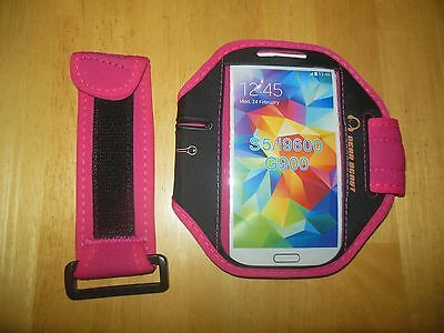 NEW GEAR BEAST Premium Armband w/ Key Pocket for iPhone & Samsung Galaxy PINK