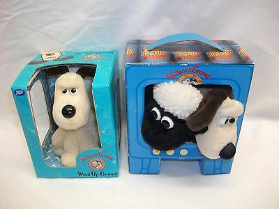 Vintage Wallace & Gromit Wind Up Gromit & Beanies Gift Set Shaun Sheep ~ Unused