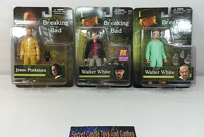 Breaking Bad 3 ACTION FIGURES 2 WALTER WHITE (1 PX EXCLUSIVE) & 1 JESSE PINKMAN