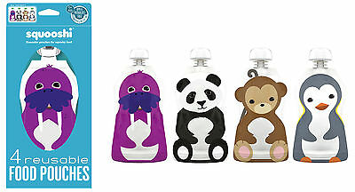Squooshi Reusable Pouches Large 4 Pack |  CLOSE-OUT !
