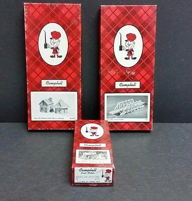 Lot of 3 Vintage Campbell Scale Models - Empty Boxes