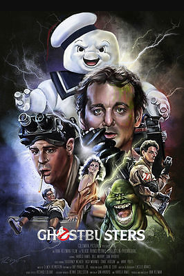 2017 NEW Ghostbusters Movie 1984 Art Silk Poster Wall Home Decor 24x36inch