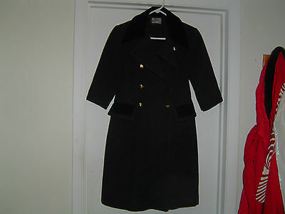 Vintage Girls Wool Coat Gray/Black Tailored by Rothschild w/ D.B. Royal Buttons