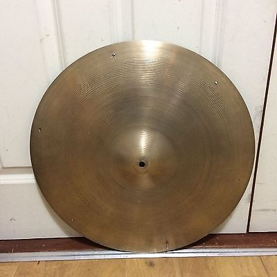 "Vintage Avedis Zildjian 20"" Ride with Rivets ~Free Shipping~"