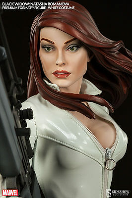 Sideshow Marvel Black Widow White Costume Premium Format Statue Exclusive ~New~