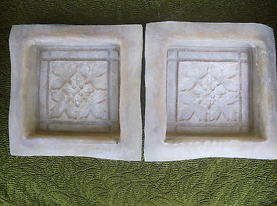 Stepping Stone Garden Ornament Mould/Mold-Set of 2