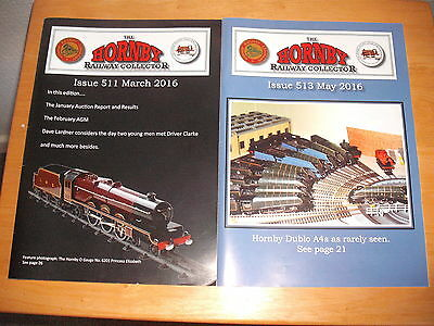 2 THE HORNBY RAILWAY COLLECTOR Magazines 2016 March 511 May 513 Model Guide