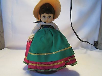 "Madame Alexander VINTAGE 1970s 8"" ITALIAN Doll! No Box With Stand"