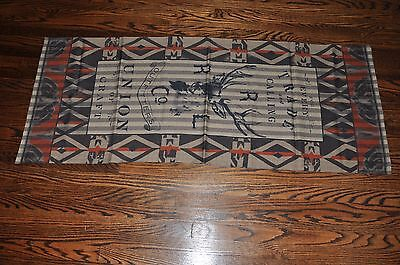 Ralph Lauren RRL Made in Italy 100% Wool Southwestern Long Neck Scarf