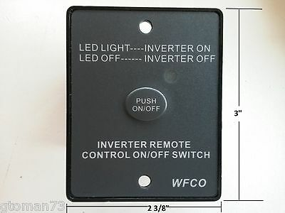 Wfco Inverter Remote Control On Off Switch Push Button Rv Camper Trailer 12 Volt