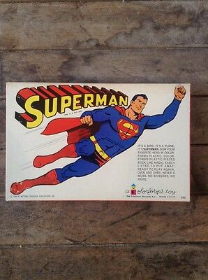 Vintage 1964 SUPERMAN Colorforms Adventure Set / National Periodical Publication