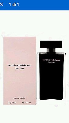 Narciso Rodriguez For Her Edt 100 Ml Natural Spray Profumo Donna Woman Femme