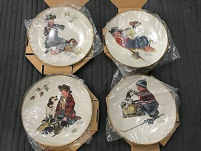 Norman Rockwell Gorham Collector Plates 1971 4 Seasons Limited Edition Set of 4