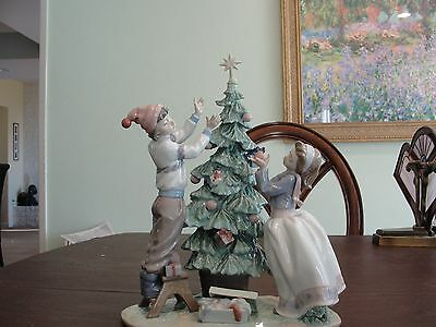 "Lladro Trimming The Tree 5897  13 1/2"" By 10 1/2"""
