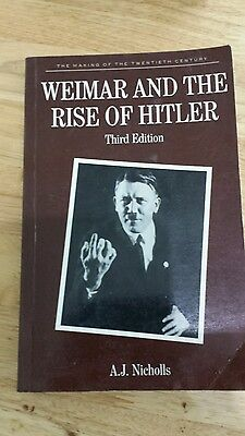 Weimar and the Rise of Hitler by Anthony James Nicholls (Paperback, 1991)
