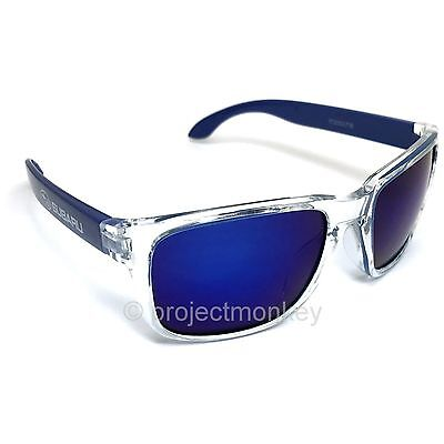 Subaru Sunglasses Blue / Clear Frame UV400 Blue Lens Protects UVA UVB Licensed