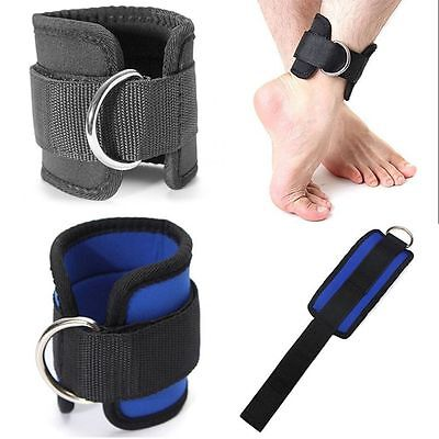 Fitness Thigh Leg Pulley Ankle Strap D-ring Multi Cable Gym Weight Lifting
