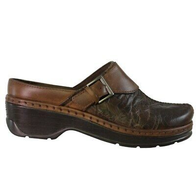 Klogs Audrey Clogs Womens Brown Flower Tooled Leather Display Model 10 W
