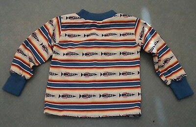 Vintage 1970 1960 atomic rocket Shirt Top Childs Size