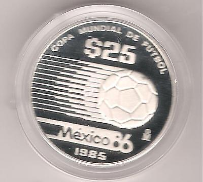 25 Peso Mexico 1985 Fussball-Weltmeisterschaft in PP