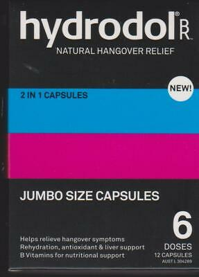 HYDRODOL HANGOVER RELIEF - 40 capsules - NEW SEALED - FREE P&H Australia