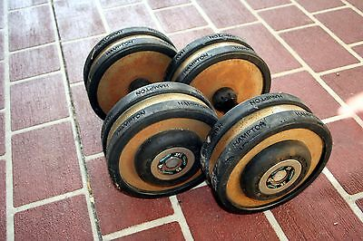 35lb / 15.2kg dumbells x 2  Used gym weights strength training